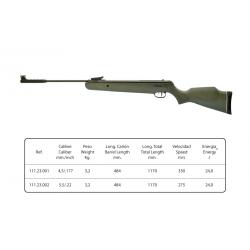 تفنگ بادی نوریکا مدل hawk grs